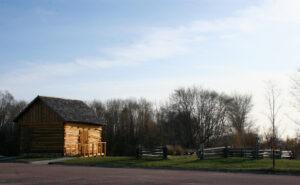 Treaty Site History Center log cabin