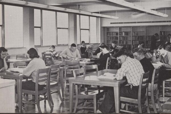 Saint Peter High School Library 1958