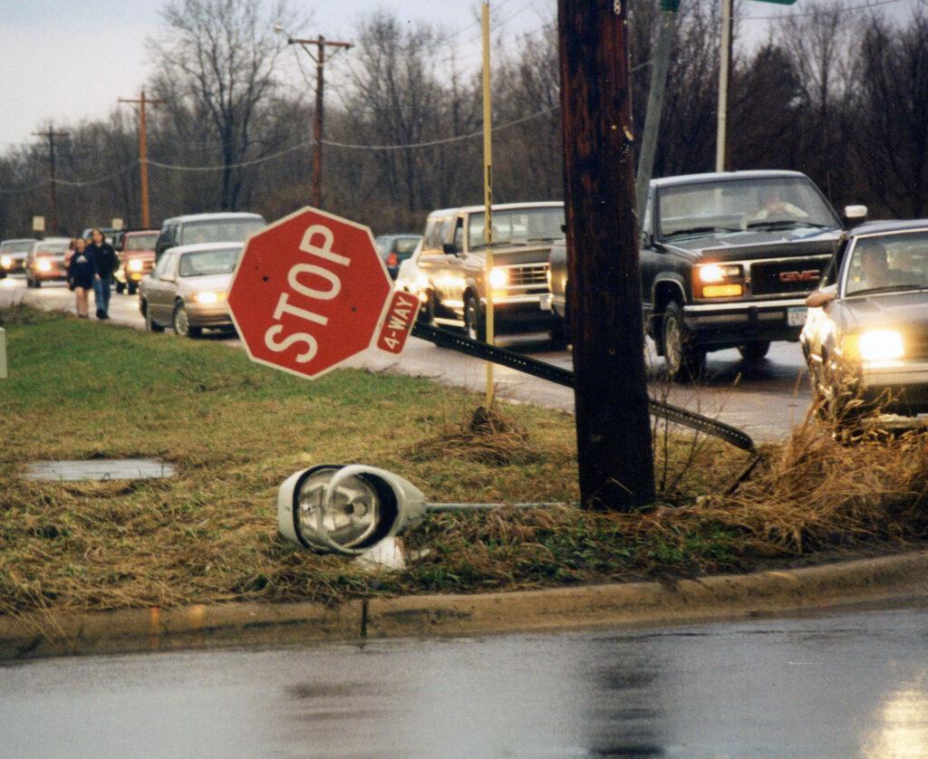 Neighborhood stop sign