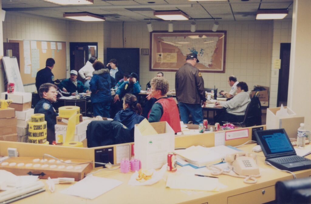 Emergency Operations Center in the basement of the Nicollet County Government Center