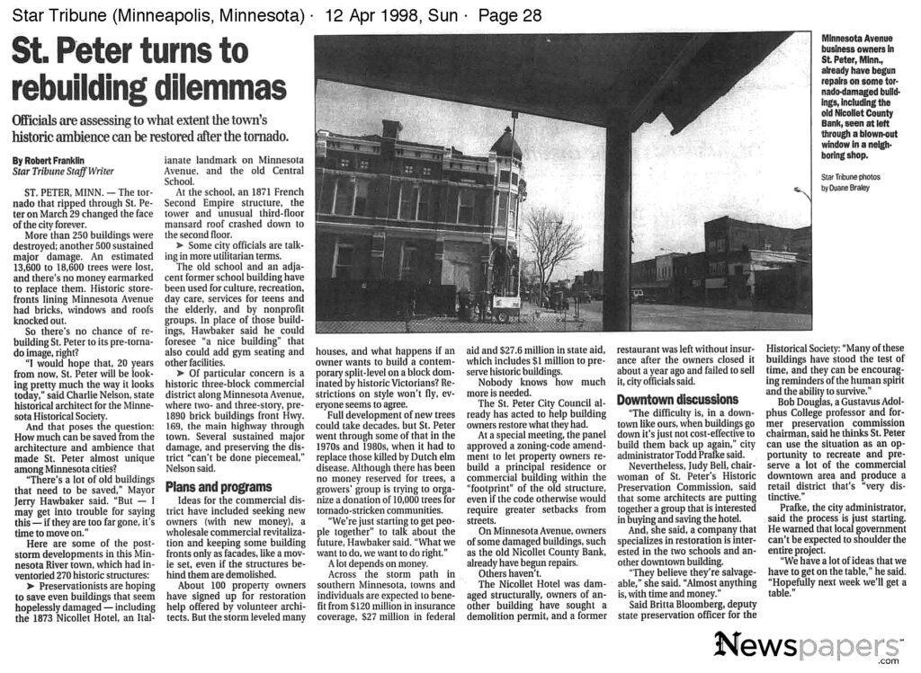 Star Tribune. Sun Apr 12, 1998