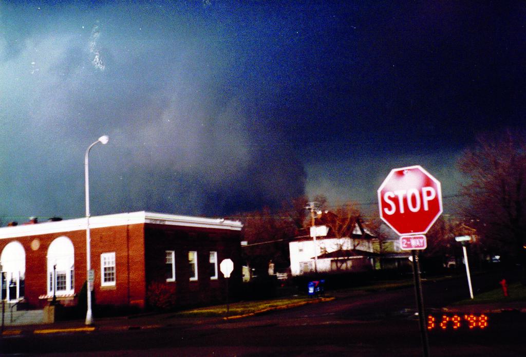 Tornado over Post Office
